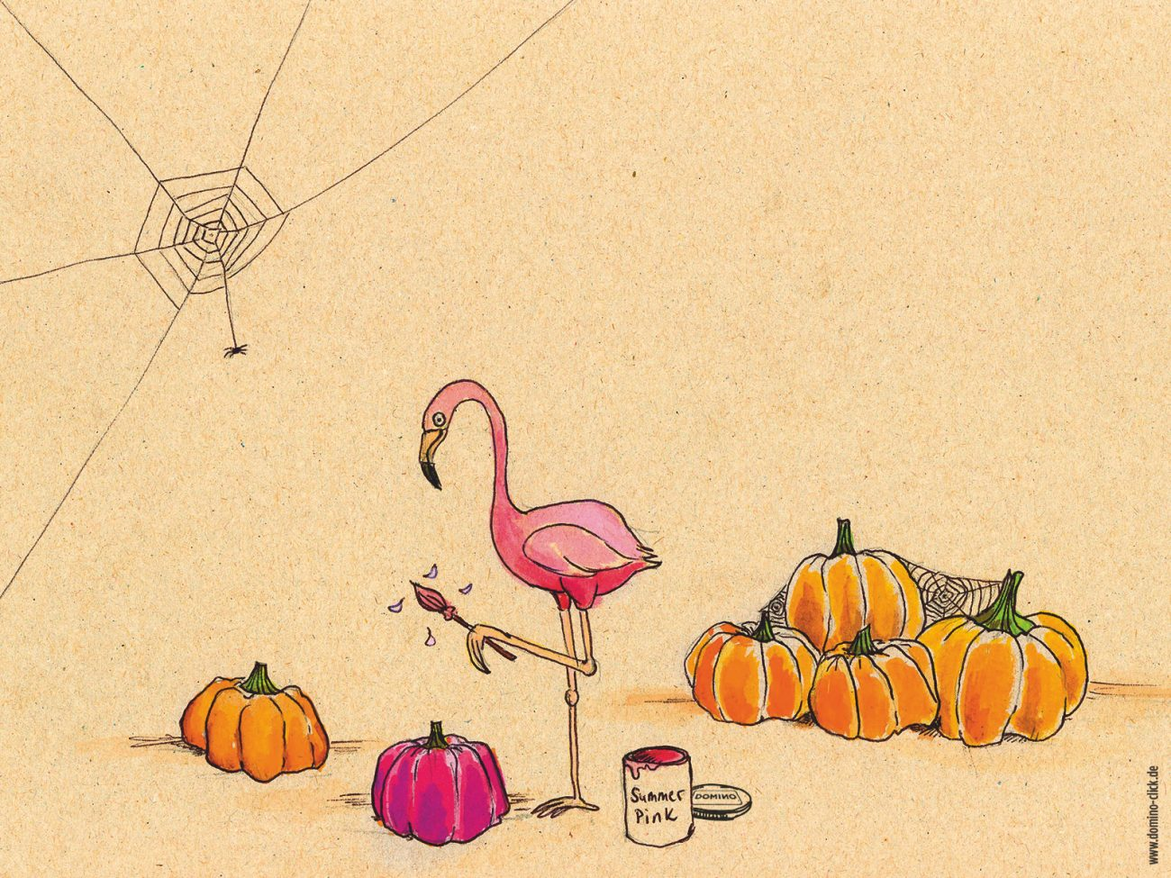 Domino Blog Wallpaper Flamingo Vorschau